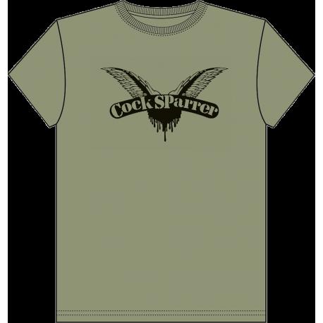 Logo (black on olive) ladies t-shirt