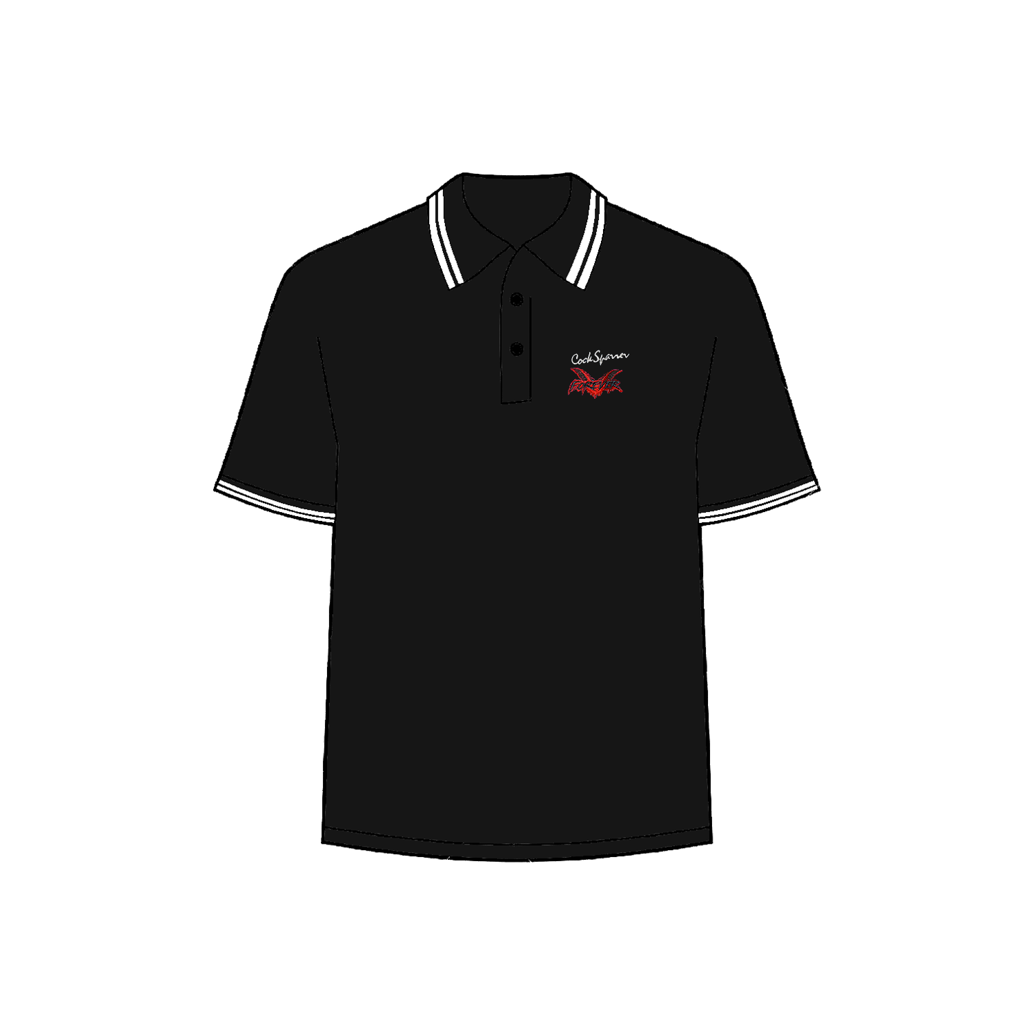 Forever black polo shirt