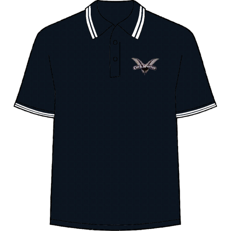 Logo (white on navy) polo shirt