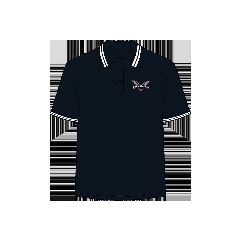 Logo (white on navy) polo shirt