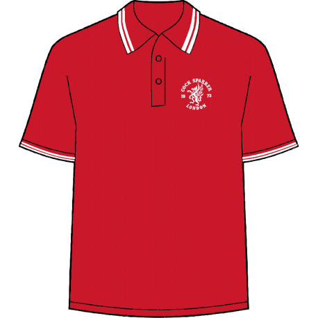 London logo (white on red) polo shirt