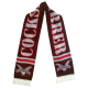 Logo (white on brown) scarf