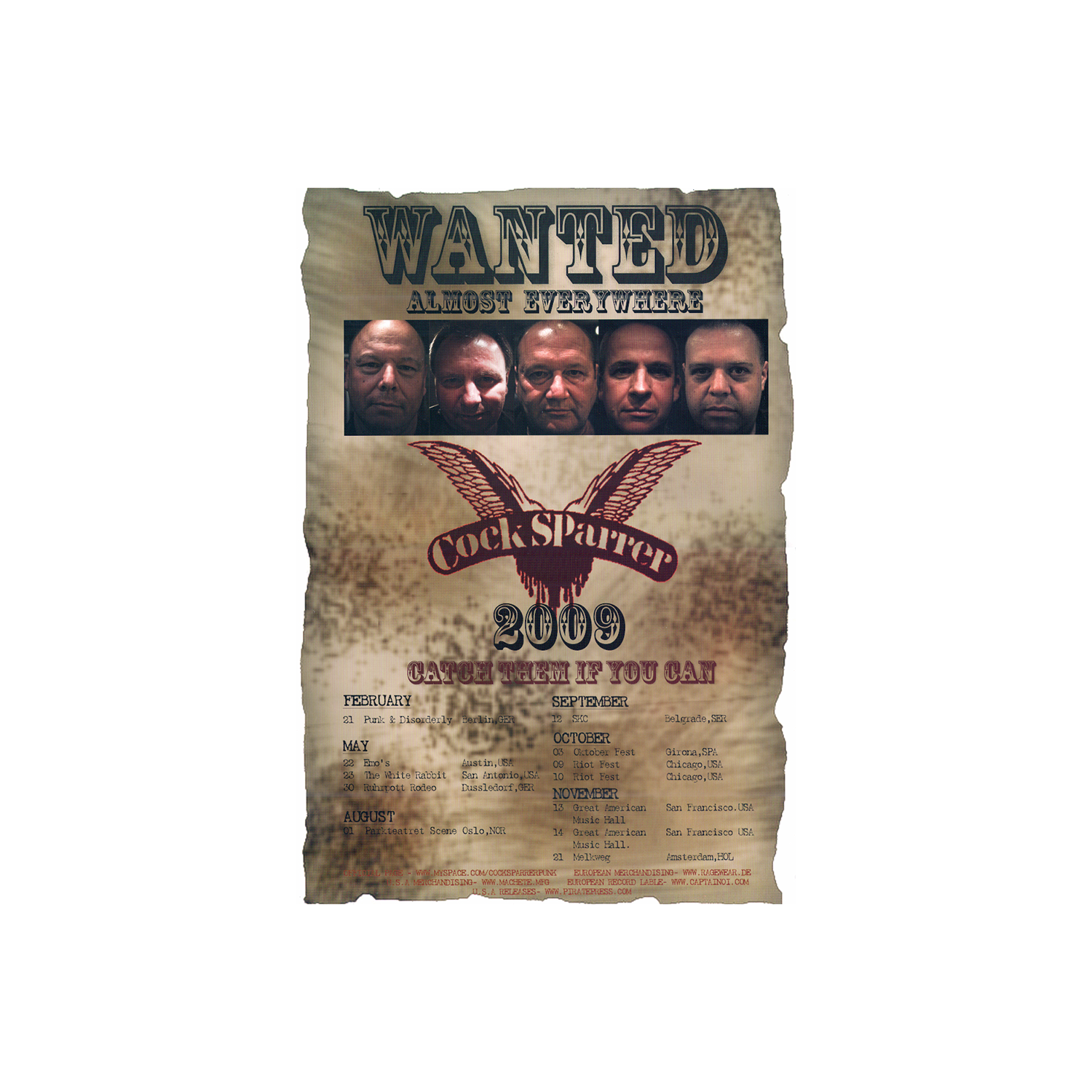 Wanted Almost Everywhere poster
