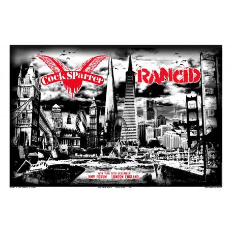 Cock Sparrer/Rancid HMV Forum poster