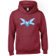 Logo (blue on claret) hoodie