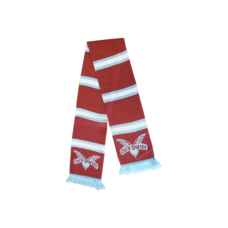 Logo (blue on claret) scarf