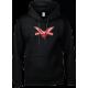 Logo (red on black) hoodie
