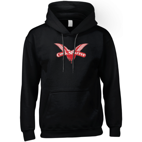 Logo (red on black) hoodie