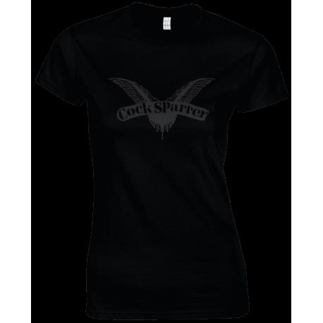 Logo (black on black) womens t-shirt