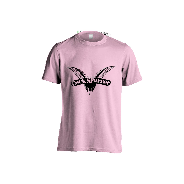 Logo (black on pink) womens t-shirt