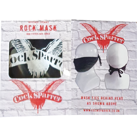 Logo tie back face mask