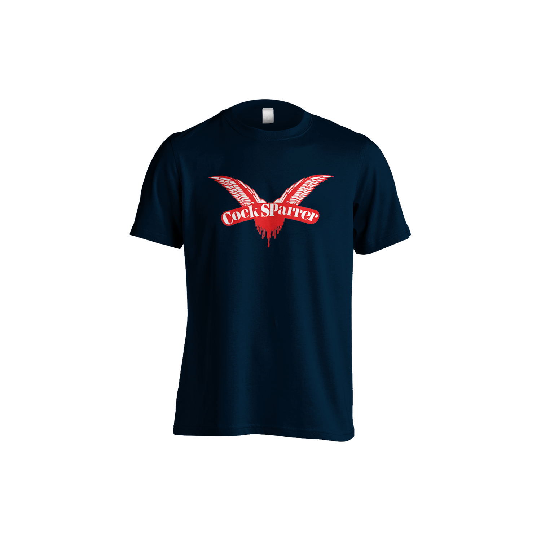 Logo (red on navy) t-shirt