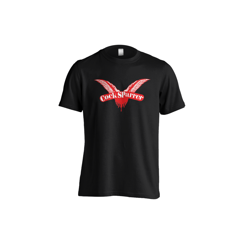 Logo (red on black) t-shirt